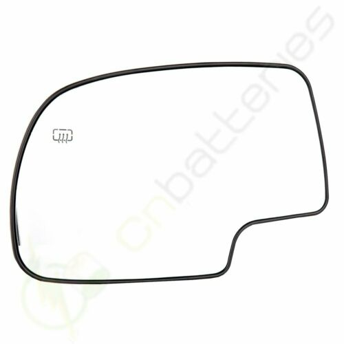 Power Heated LH Driver Mirror Glass for 03-07 GMC Chevy