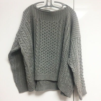 [Marc by Marc Jacobs] Cable Knit Gray Sweater Sz M/L Oversized New without Tags