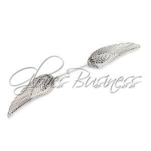 2pcs angel wings feather body nipple bar barbell piercing for Angel wings nipple piercing jewelry