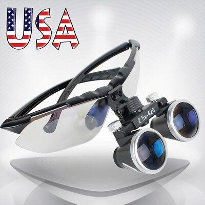 High-end Luxury Dentist Dental Surgical Medical Binocular Loupes 2.5x 420mm Usa