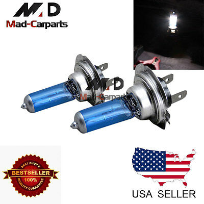 H7 55w Halogen Xenon Headlight Replacement 2x Light Bulb Lamp 6000K White