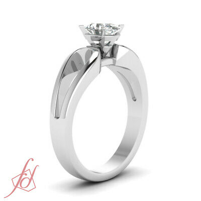 Solitaire Diamond Engagement Ring 0.70 Ct Oval Shaped SI2-D Color GIA Loop Duet 2