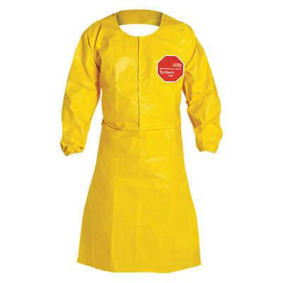 25 Dupont Tychem Ppe Qc275byl-4x-002500 Qc Sleeved Coat Apron Size 4x