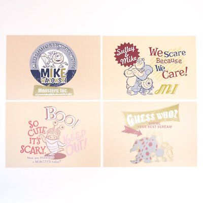 Pixar Disney Postcards x4  - Sulley & Mike](Sulley X Mike)