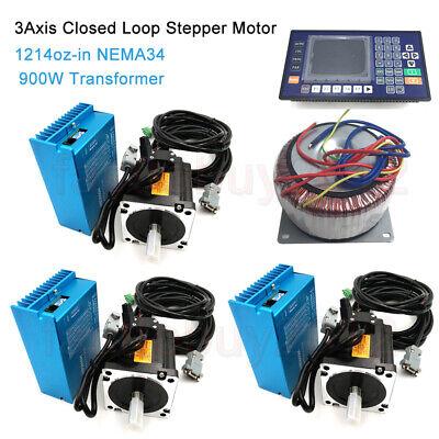 3axis 8.5nm Closed Loop Stepper Motor Nema34 Driveac900w Transformercontroller