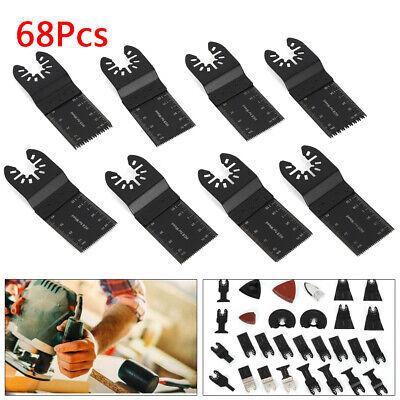 68pcsset Multi Tool Oscillating Saw Blades Kit Cutting Plastics Wood Set Usa