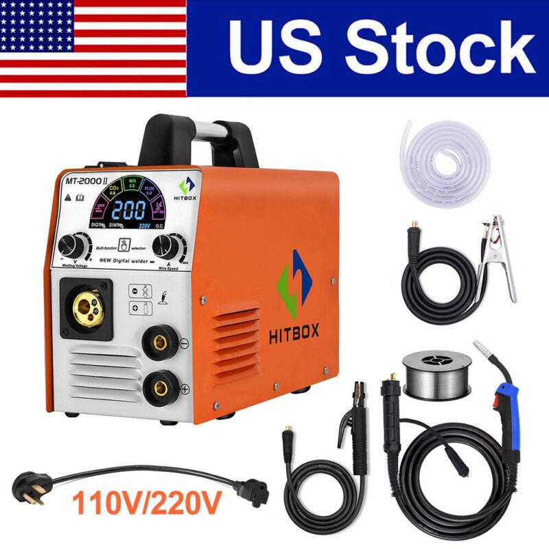 4 in 1 MIG Welder 110V 220V 180A Inverter Gas-less/Gas MIG TIG Welding Machine