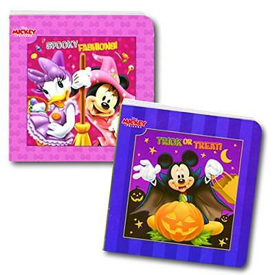 Disney Mickey Mouse and Minnie Mouse Halloween Board Book Set For Kids Toddlers  - Halloween Books For Toddlers