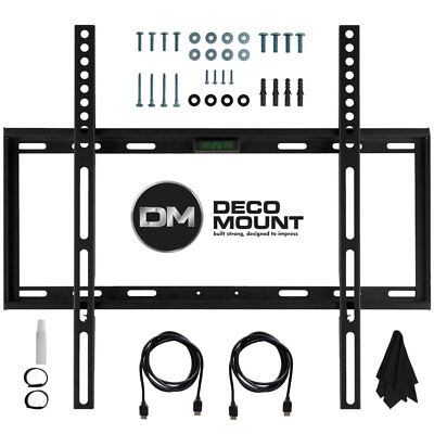 Deco Mount Flat Wall Mount Kit Ultimate Bundle for 45-90 inch TVs ()