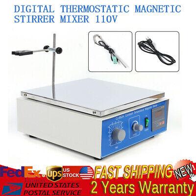 10 L Digital Thermostatic Magnetic Stirrer Mixer With Hotplate 110 V