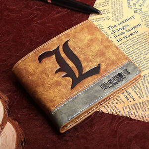 HOT Anime Death Note L Wallet Purse Folder Cosplay Accessory Prop Bag Toy Gift