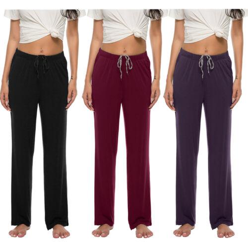 Womens Lady Indoor Pajama Lounge Sleep Modal Simple Pants wi