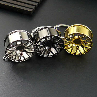 New Creative Wheel Hub Rim Model Mans Keychain Car Key Chain Cool Keyring Gift
