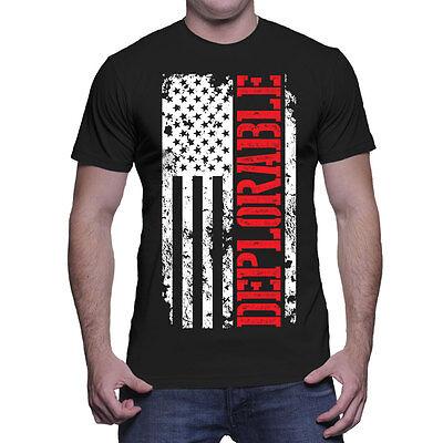 Deplorable American Flag - Trump Movement USA Pride President Mens T-Shirt