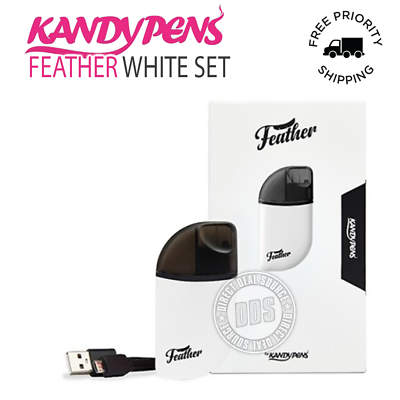NEW KandyPens Feather Kit in White 100% Authentic + Free Priority 1-3 Shipping
