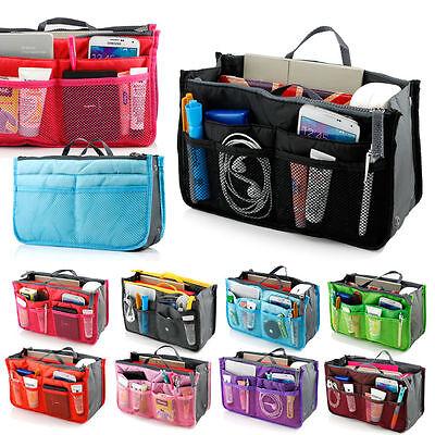 Lady Travel Insert Handbag Organiser Purse Liner Organizer Tidy Bag in Bag Women