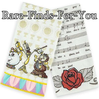 Disney Parks Beauty and the Beast Be Our Guest Kitchen Dish Towel Set - Beauty And The Beast Be Our Guest