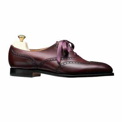 Oxford Brogue Wingtip Burgund Leder Lace-Up Ribbon Schuhe (Damen Wingtip Schuhe)