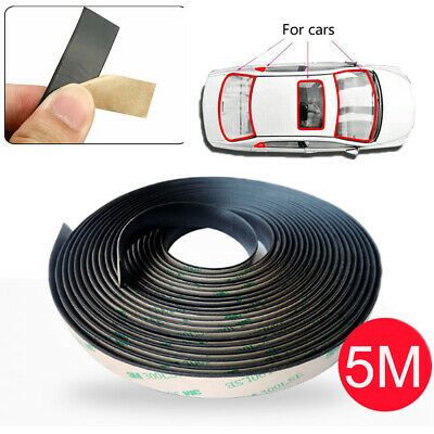 5m Seal Strip Trim For Car Front Rear Windshield Weatherstrip Rubber Waterproof