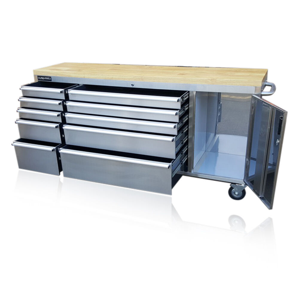 126 Us Pro Tools Tool Chest Box Bench Roll Cabinet