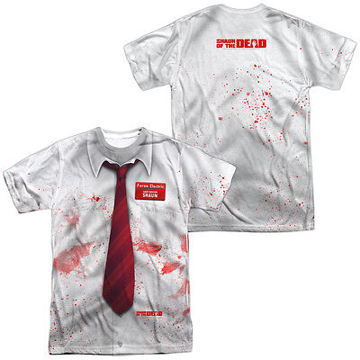 SHAUN OF THE DEAD COSTUME TEE Licensed Halloween Adult Men's Tee Shirt SM-3XL](Shaun Of The Dead Halloween Costume)