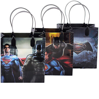 12PCS Batman vs Superman Goodie Party Favor Gift Birthday Loot Bags Licensed NEW](Batman Party Bags)