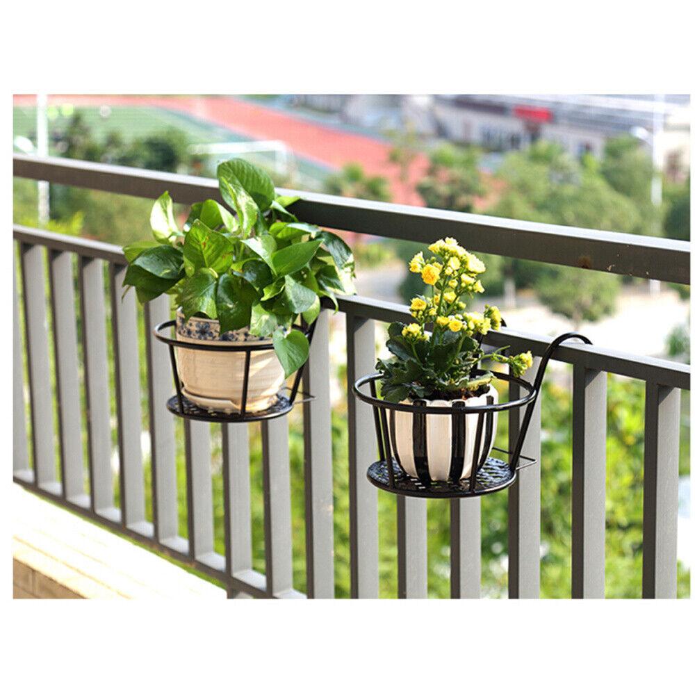 Blumentopf Halter Balkon Garten Hängetopf Pflanztopf Hängend Topfhalter Metall