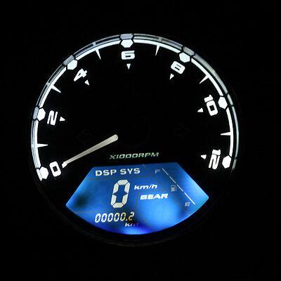 Motorcycle LCD Digital Odometer Speedometer Odometer MotorBike 12000rpm KMH/MPH