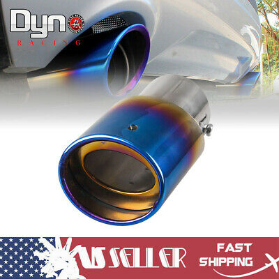 Burnt Blue Car Muffler Tip Exhaust Pipe Tail Universal Adjustable For Pickup Mitsubishi Lancer Exhaust Pipe