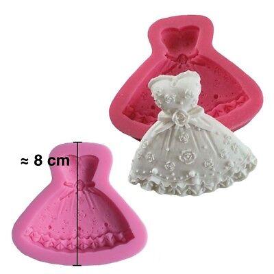 Silikonform 3D Kleid Prinzessin Für Teig Aus Zucker Kuchen Design Dekoration