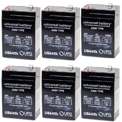 6PK UB645 6V 4.5AH SLA Battery Replaces motorcycle & personal watercraft Battery