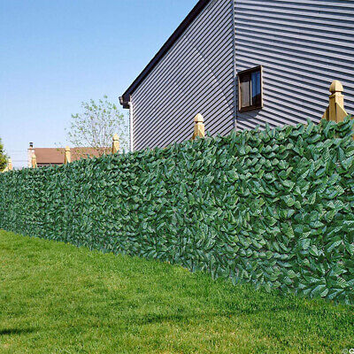 39x157 in Artificial Faux Ivy Palm Leaf Privacy Fence Panel Screen Hedge Decor