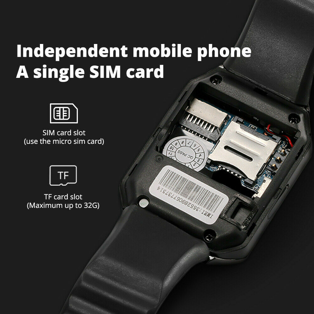 New Blue-tooth Smart Watch & Phone with Camera For i Phone Samsung LG HTC Huawei Cell Phones & Accessories