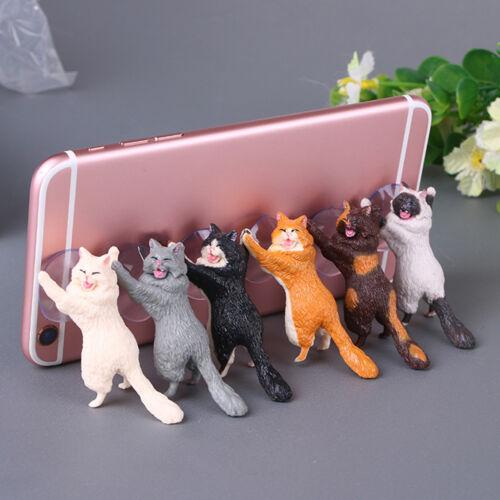 Cute Cat Cell Phone Holder Desk Stand Mount Sucker Accessori