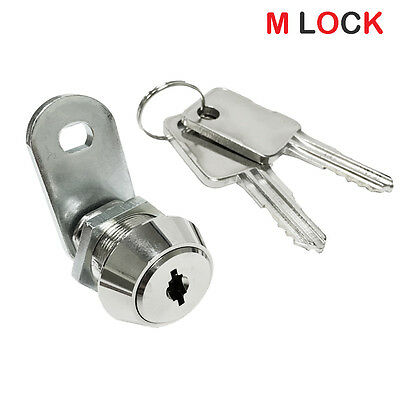 Lot Of 6 58 Flat Key Cam Lock High Security 14 Disc Tumbler Triple Bitted