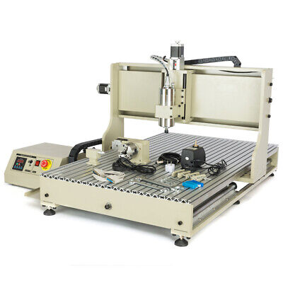 Water-cooled 4 Axis 6090 Cnc Router Engraver Milling Machine Engraving Desktop