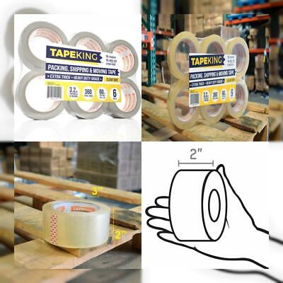 Tape King Clear Packing Super Thick 3.2mil - 60 Yards Per Roll (Pack of 6...