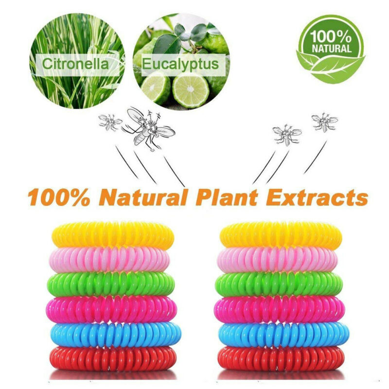 12PCS Mosquito Repellent Bracelets Natural Repellent Wristba