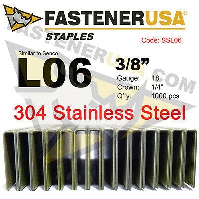 1//4-Inch Narrow Crown 3//4-Inch Leg 18-Gauge St Spotnails 4806PS Stainless Steel
