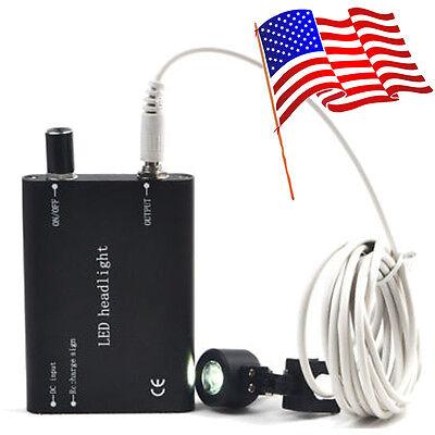 Usa Fast Black Portable Led Head Light Lamp For Dental Medical Binocular Loupes