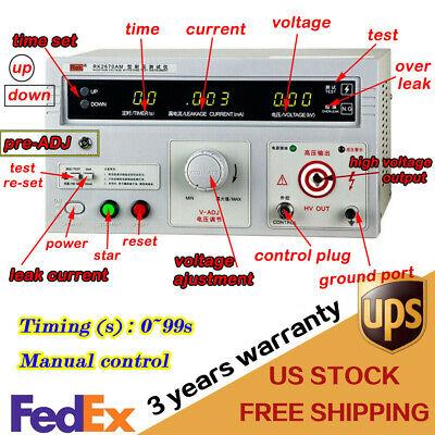 Tester Withstand Hi-pot Tester Single 5kv Ac 110v High Voltage Rk2670am 100va