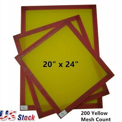 6pcs 20 X 24 Aluminum Frame Silk Screen Printing Screens 200 Yellow Mesh Count