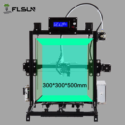 300*300*500mm I3 Massive Size 3d Printer DIY Auto-level heated bed free shipping