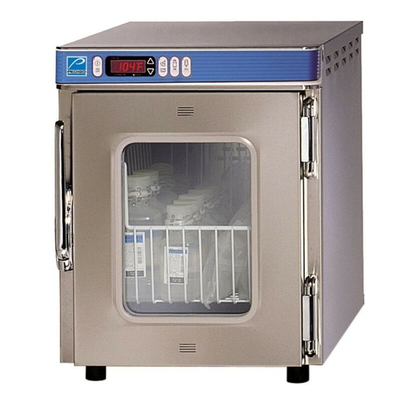 Pedigo P-2010 Stainless Steel Blanket Warming Cabinet GLASS DOOR SeeThrough RARE