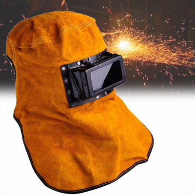 89c9 Cowhide Filter Lens Welder Leather Hood Welding Helmet Mask Protect