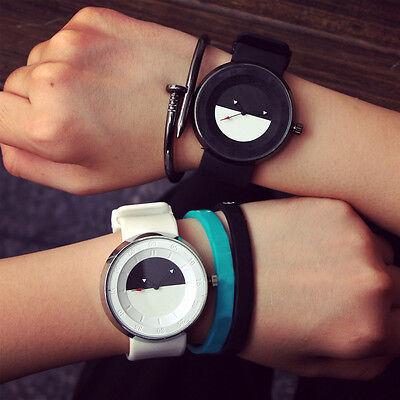 Fashion Men Women Couple Watch Stylish Silicone Quartz Analog Wrist Watch Watch