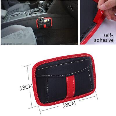 Self-Adhesive PU Car Organizer Storage Pouch Pocket Car Door Seatback Mounting ()
