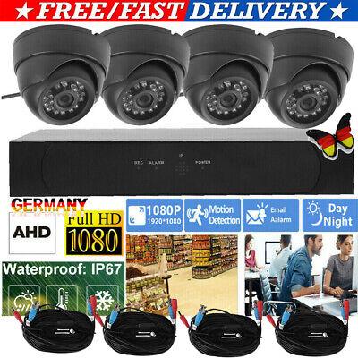 1080P 2MP AHD 4-Kanal AHD DVR 4-Dome Kameras Smart Home Security Kamera Kit HOME Home Security-kamera-kit