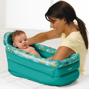 inflatable baby bath tub baby toddler portable travel bath brand new ebay. Black Bedroom Furniture Sets. Home Design Ideas