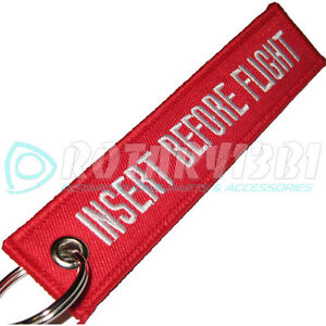 INSERT-BEFORE-FLIGHT-KEYCHAIN-KEY-RING-TAGS-CABIN-CREW-PILOT-EQUIPMENT-RED-white